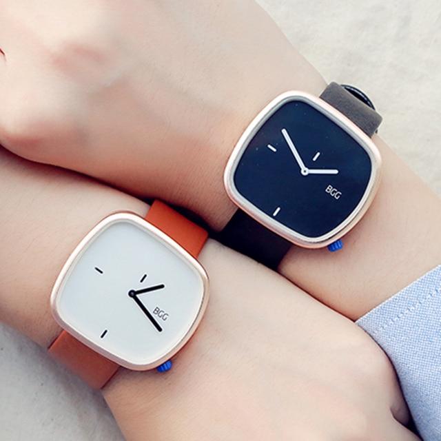 Minimalism Style Ladies Dress Watch irregular dial Female Quartz Wristwatch BGG