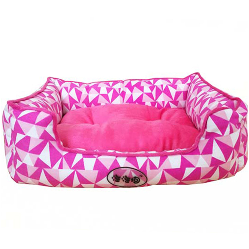 Soft Dog Beds Winter Warm Print Kennel Pet Mats Puppy House Outdoor Products Home Decoration Accessories ATB-272