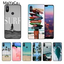 California Pohon Beach Surf Perjalanan Baru Tiba Hitam Cell Phone Case untuk Xiaomi Mi6 Mi8 Redmi5/5 Plus MIX2 MIX2S Max2 Max3(China)