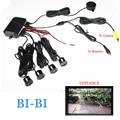 Dual Core CPU Vídeo Do Carro Sensor de Estacionamento Reverso Backup Radar Sistema de Alarme distância Show em Exibição Do Sensor do automóvel Auto Sistema
