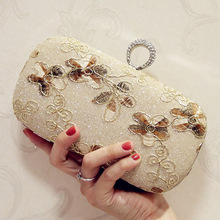 Golden Silver Flower Embroidered Evening Bags for Party Wedding Female Luxury Box Day Clutch Bag Chain Shoulder Crossbody Bags все цены