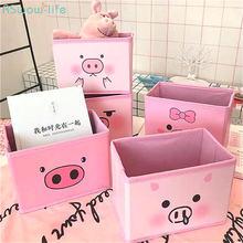 Милая розовая коробка для приема в японском стиле с сердечками