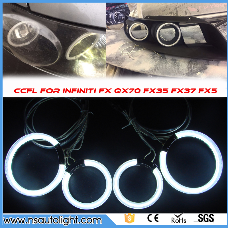 Free Ship For INFINITI FX35 FX45 2003 2004 2005 2006 2007 2008 Excellent Ultra bright illumination CCFL Angel Eyes kit Halo Ring for cadillac cts 2003 2004 2005 2006 2007 excellent ccfl angel eyes kit ultrabright illumination ccfl angel eyes kit halo ring