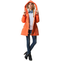 Winter parka coat women XL 4XL plus size loose Orange army green blue europe and america long sleeve slim warmth clothing JD443