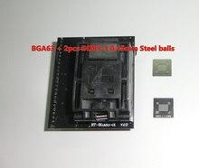 Adaptador para TOMADA RT809H BGA63 RT BGA63 01 V2.0 0.8 MILÍMETROS 9x11 + 2 pcs DDR3 3 esferas de aço 0.45 milímetros