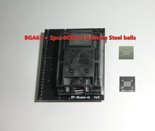 BGA63 RT809H 用ソケット RT BGA63 01 V2.0 0.8 ミリメートル 9 × 11 + 2 個 DDR3 3 0.45 ミリメートル鋼球