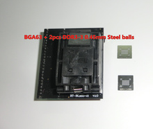 BGA63 adaptateur pour RT809H PRISE RT BGA63 01 V2.0 0.8 MM 9x11 + 2 pièces DDR3 3 0.45mm billes en acier