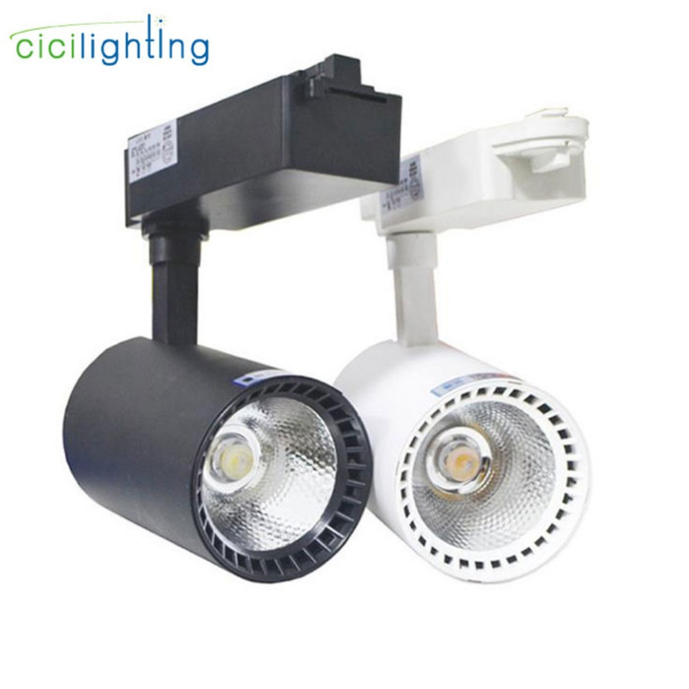 on sale 85c61 eedd2 US $17.5 |Industrial LED Track Light 20W 30W COB Ceiling Rail lights For  Kitchen Clothes Shop led track lighting fixture for gallary show-in Track  ...