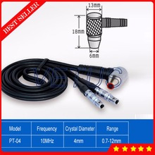 0.7~12mm Measuring range 10MHZ 4mm PT-04 Ultrasonic Thickness Twin probe sensor for thickness meter tester