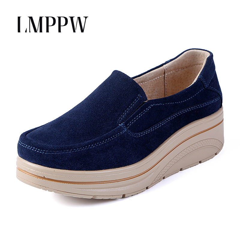 Women 39 s Chunky Sneakers 2019 New Fashion Women Platform Casual Shoes Genuine Leather Design Female Loafers Flats Vulcanize Shoes in Women 39 s Vulcanize Shoes from Shoes
