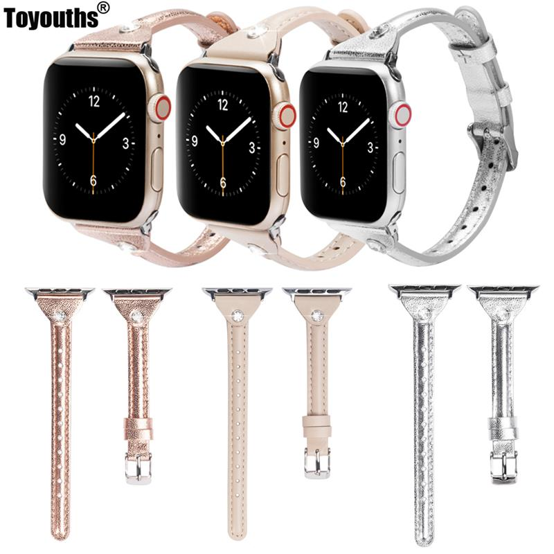 Fashion Leather Watchband For Apple Watch Band Series 4/3/2/1 40mm 44mm Sport Bracelet 42 Mm 38 Mm Strap For Iwatch 5 Band