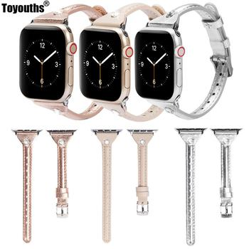 цена на Fashion Leather Watchband for Apple Watch Band Series 4/3/2/1 40mm 44mm Sport Bracelet 42 mm 38 mm Strap For iwatch 5 Band