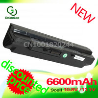 Golooloo 6600MaH Black Laptop Battery for MSi U100 U90 U210 U200 BTY S12 U230 BTY S11 for LG X110 for MEDION Akoya Mini E1210
