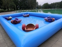 6x6x0.5m cheap inflatable aqua pool tank for kids boat toys
