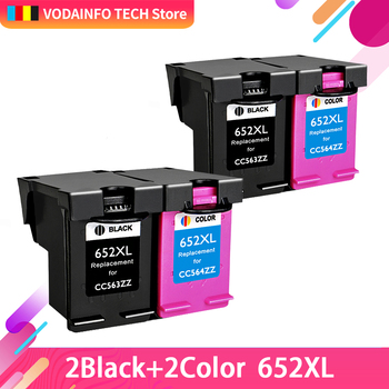 QSYRAINBOW 652 Refill Ink cartridge replacement for HP 652XL for HP Deskjet 1115 1118 2135 2136 2138 3635 3636 3835 4536 4538