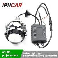 Бесплатная доставка iphcar стайлинга автомобилей супер яркий светодиодный объектив проектора с белым светодиодный Ангел Halo Высокая Низкая Лу