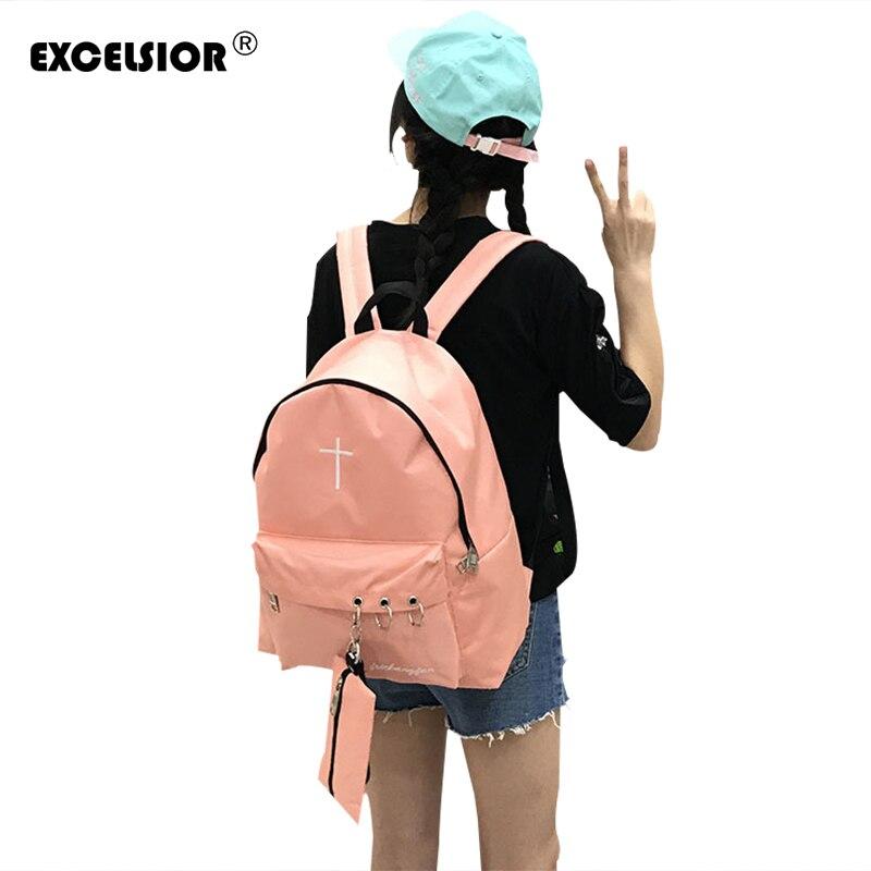 EXCELSIOR 2 Pcs/se Women Backpack Feminine Embroidery cross  Female Backpacks For Teenage Girls Bagpack Mochila Feminina