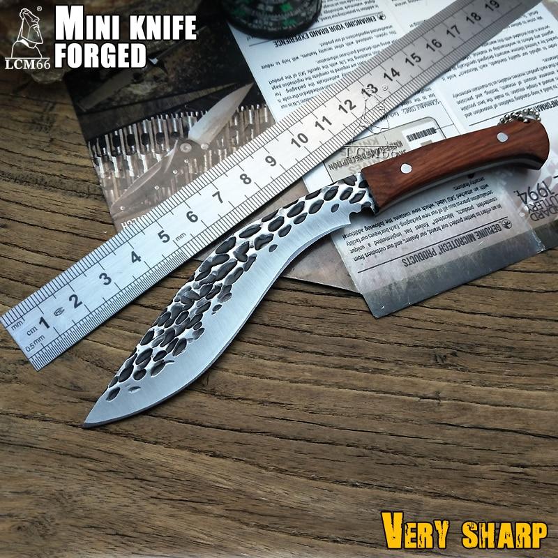 LCM66 Mini forging machete scorpion outdoor jungle survival battle Cold Fixed blade hunting knives fruit knife cs go steel цена