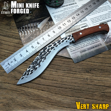 LCM66 Mini  forging machete scorpion outdoor jungle survival battle Cold steel Fixed blade hunting knives  fruit knife cs go