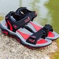 Sandalias de los hombres 2017 verano de alta calidad zapatos casuales de playa de los hombres cómodo gancho y bucle plana sandalias zapatos hombre talla 39 ~ 45