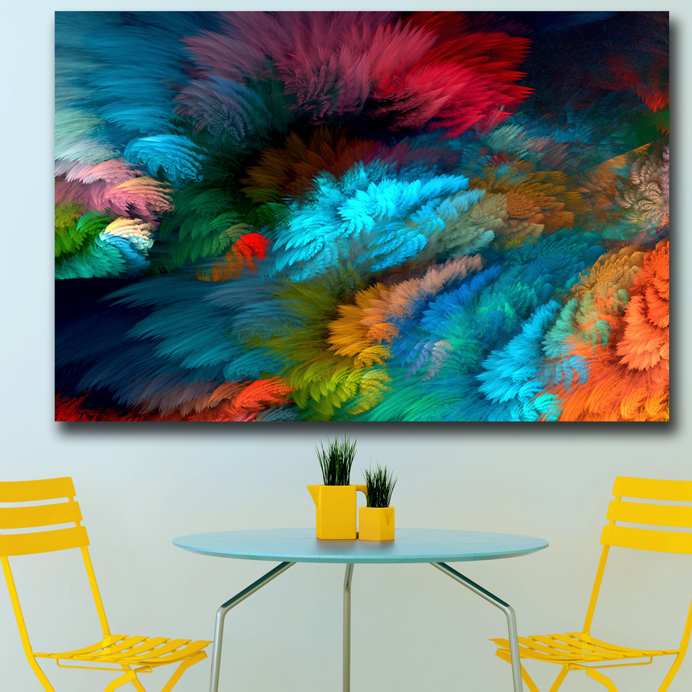 Splash Colorful Room Wall: Aliexpress.com : Buy Wxkoil Wall Art Rainbow Colorful
