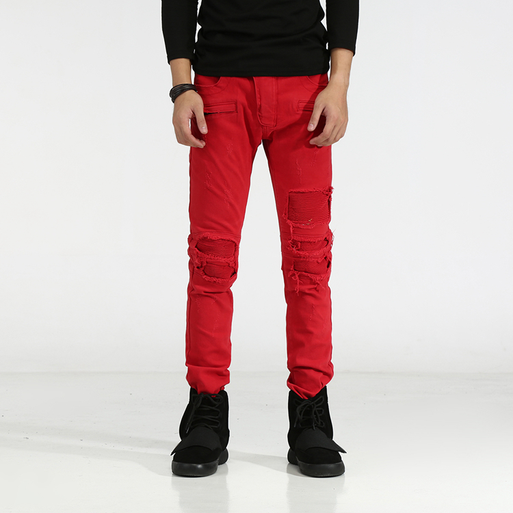 Online Buy Wholesale red skinny jeans for men from China red ...