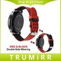 22mm correa de reloj del silicón + herramientas para samsung gear s3 Classic Frontera Doble Color Vestido Correa Correa De Caucho Deporte de la Muñeca pulsera