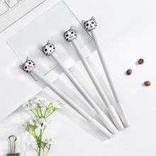 1 pcs 0.5mm New Arrival Cute Cheese Cat Gel Ink Pen Promotional Gift Stationery  kawaii School Office supplies Supply Fod 4pcs lot 0 5mm cheese cat head pendant gel pen promotional gift stationery school