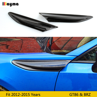 Carbon fiber side spoiler For toyota 86 2012 2015 fender decorative spoiler wing for subaru BRZ for scion GT86 CF styling 2 pcs