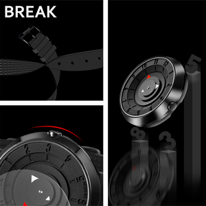 Image 3 - BREAK minimalista Reloj de marca de lujo para hombre y mujer, resistente al agua, de cuarzo, informal, militar, deportivo, negro