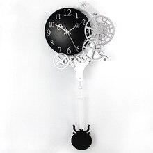 2017 Hot High-quality Gear Wall Clock Dynamic Mechanical Appearance of Fashion Home Decorations Pendulum Clock Design Clock