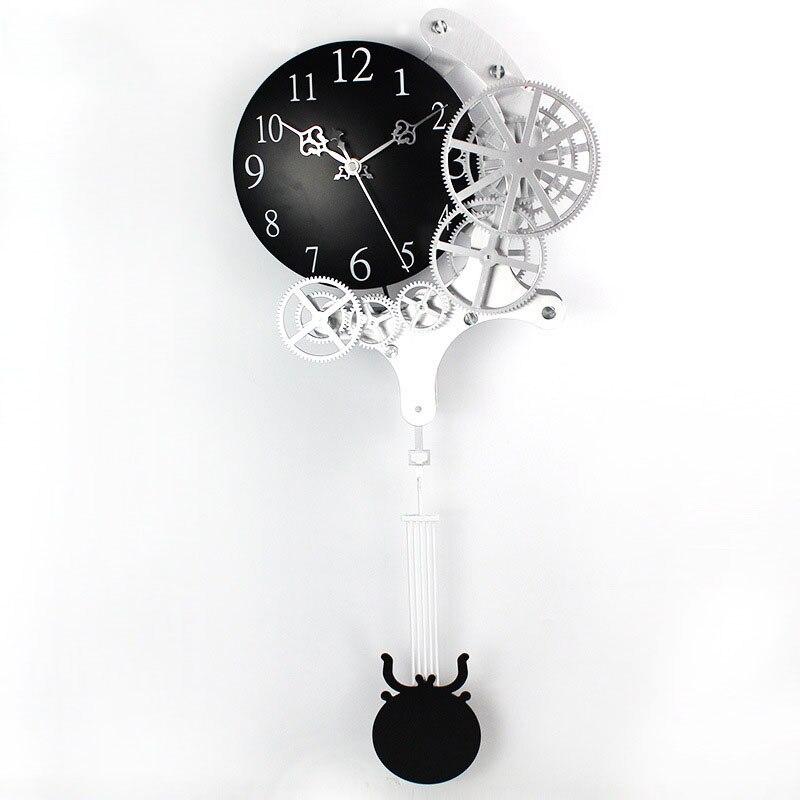 2017 Hot haute qualité engrenage horloge murale dynamique mécanique apparence de mode décorations pour la maison pendule horloge Design horloge