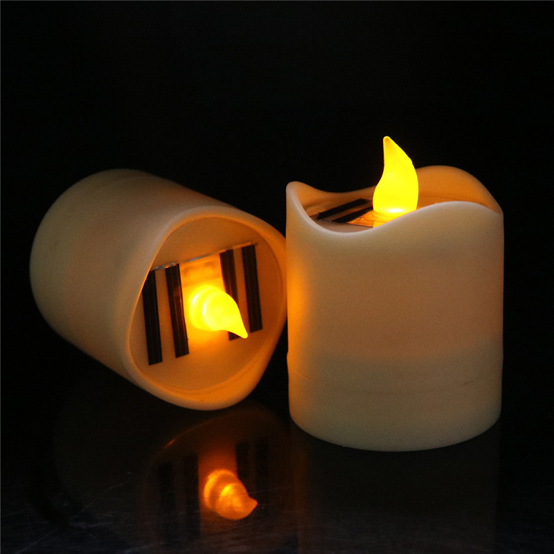Solar Lamps Solar Energy Led Light Waterproof Candle Lamp Night Light Home Decoration For Wedding Birthday To Be Distributed All Over The World