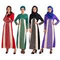 Новый Мусульманин Платье Абая джилбаба Исламская Турция Женская кружева Сращивание платья фотографии одежда турецких женщин одежда бурка женский