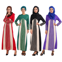 New Muslim Abaya Dress Islamic Turkey Women lace Splicing dresses pictures jilbab clothes turkish women clothing burka female