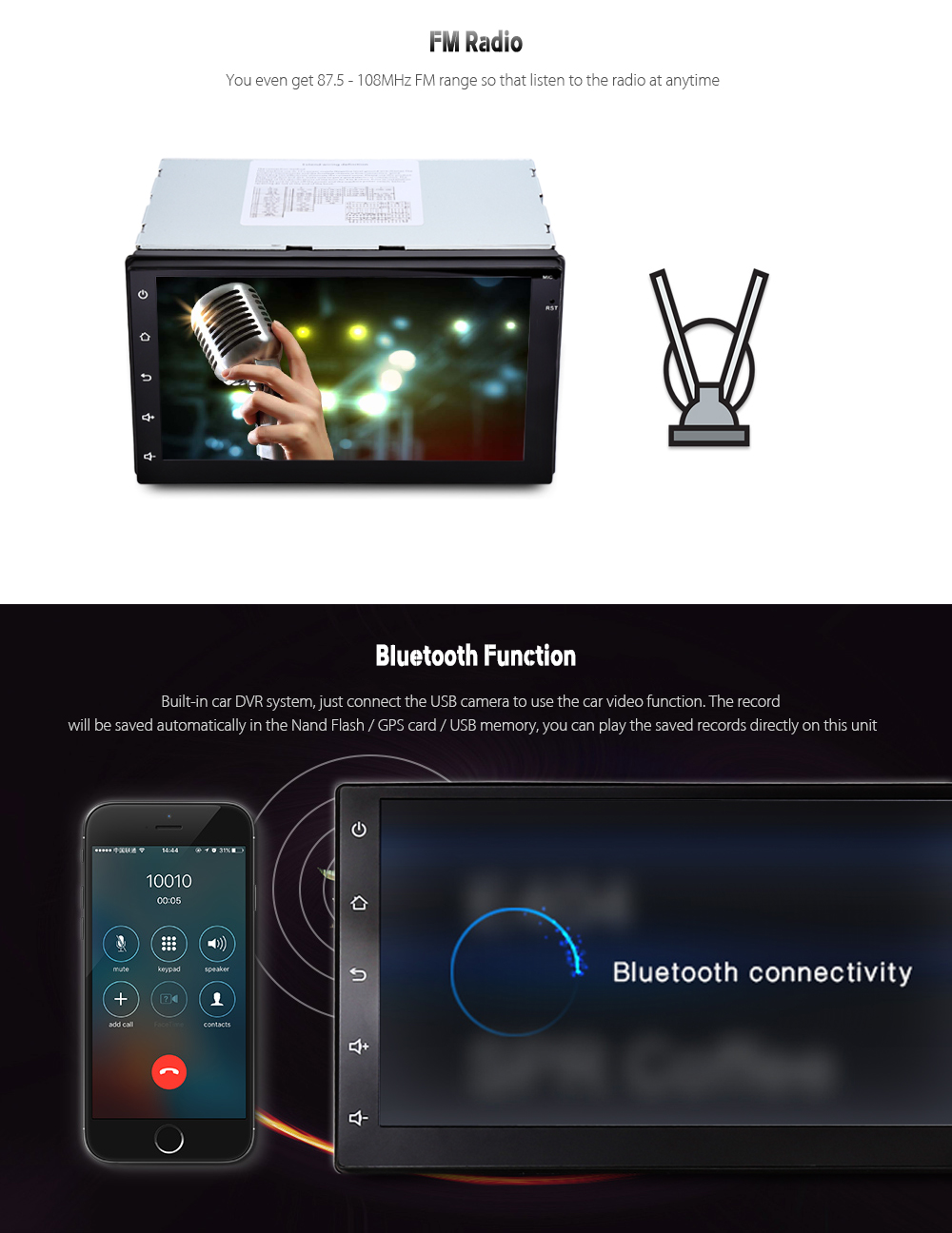7003 android 6 0 gps navigation de voiture lecteur multim dia 2 din voiture radio lecteur. Black Bedroom Furniture Sets. Home Design Ideas