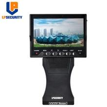 "LPSECURITY 4,3 ""Audio Video Security CCTV Kamera Handgelenk Faltbare Tester 12 v Ausgang RJ45 CableTest Monitor"