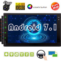 7 LCD Bluetooth WiFi 3G 4G Mirror Link Android 7.1 7 Inch Double Din Capcitive Touch Screen Car Head Unit Auto Radio GPS Navi