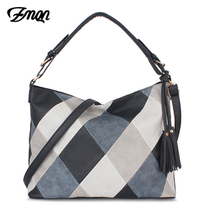 Image 1 - ZMQN Hand Bags For Women 2020 Patchwork Luxury Handbags Women Bags Designer PU Leather Hobos Shoulder Messenger Bag Female A861