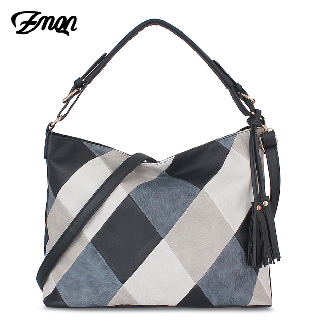 ZMQN Hand Bags For Women 2020 Patchwork Luxury Handbags Women Bags Designer PU Leather Hobos Shoulder Messenger Bag Female A861