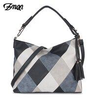 ZMQN Bags For Women 2018 Patchwork Luxury Handbags Women Bags Designer PU Leather Hobos Shoulder Messenger Bag Female Bolsa A861