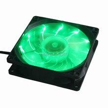 1 шт. Gdstime 92 мм светодиодный зеленый светильник Вентилятор охлаждения 92*92*25 мм DC 12 В 3Pin для ПК чехол для компьютера
