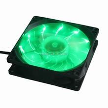 1PCS Gdstime 92mm LED Green Light Cooling Fan 92*92*25mm DC 12V 3Pin for PC Computer Case Cooling