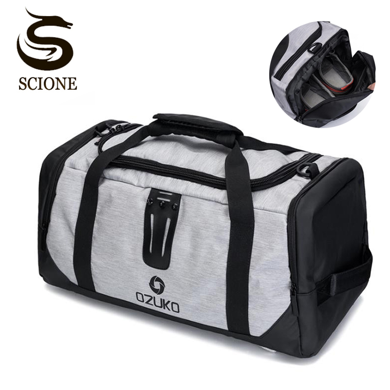 Hot Multi function Travel Handbag Suit Bag Durable Men Leisure Trip Duffle Shoulder Bag Male Duffle Travel Bags Hand Luggage