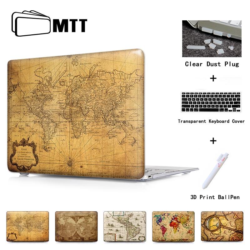 Karta över världen 1778 Hård bärbar dator Skal för Mac Book Pro - Laptop-tillbehör