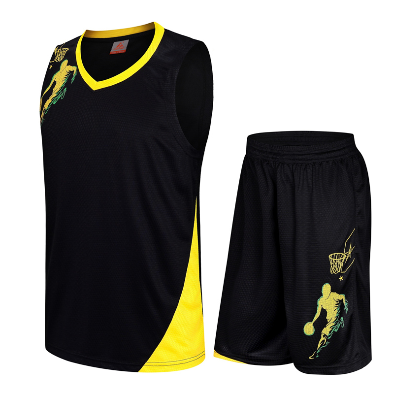 Fashion Adult Basketball Jerseys Sets Men Athletic Wear Breathable Youth Basketball Uniforms Shorts Quick-drying Sportwear