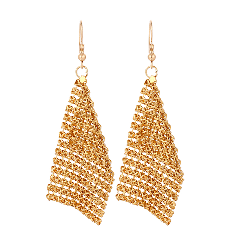 2016 new CACANA gold plated dangle long earrings for women tassel Bohemia style fashion bijouterie hot sale No.A501 A502 A503