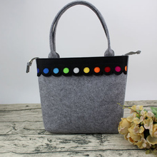 Hot New Fashion Colorful lovely Felt Bag handmade fashionable Big Size C004
