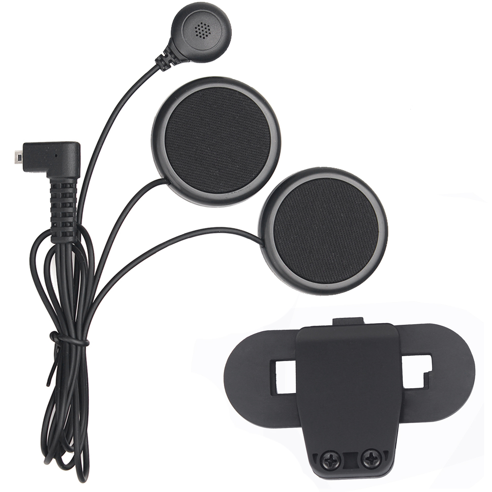 Motorcycle helmet intercom accessories soft earphone microphone and clip suit for T COMVB TCOM SC helmet