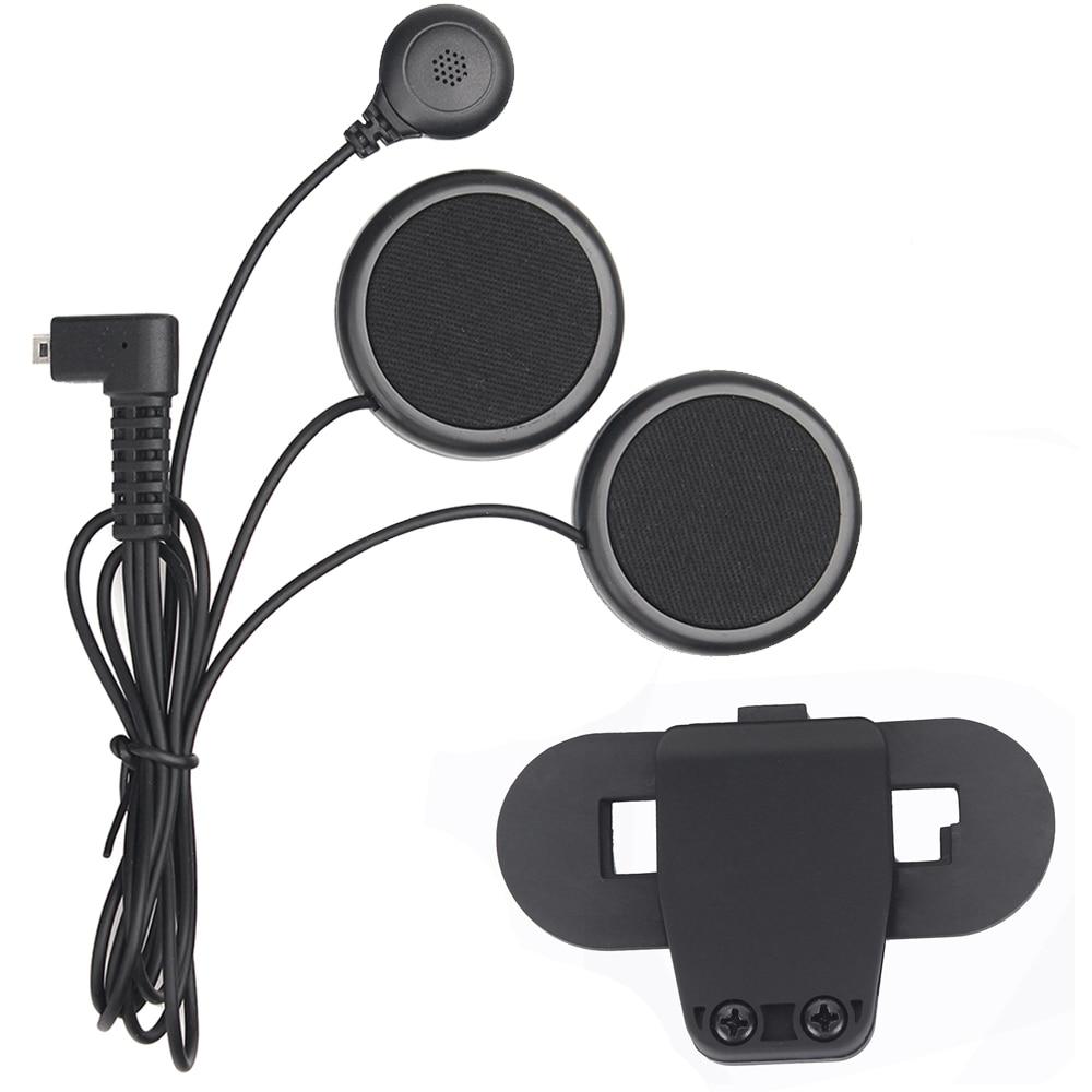 Motorcycle Helmet Intercom Accessories,soft Earphone & Microphone And Clip Suit For T-COMVB,TCOM-SC Helmet Bluetooth Intercom
